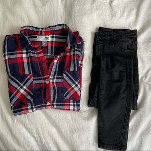 Old Navy women's plaid flannel